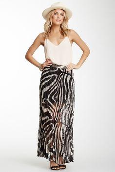 Zebra Printed Maxi Skirt
