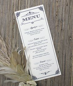 Ornate Vintage Type Menu Template - Completed Project. Download this template at Download & Print.