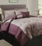 Luxury Bedding Sets For Less Plum Bedding, Purple Bedding Sets, Luxury Comforter Sets, Queen Comforter Sets, Bedding And Curtain Sets, Cool Beds, Beautiful Bedrooms, Comforters, Furniture