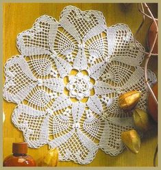 "Photo from album ""Crochet Creations 24 on Yandex. Crochet Doily Diagram, Filet Crochet Charts, Crochet Flower Patterns, Crochet Art, Crochet Home, Thread Crochet, Crochet Motif, Crochet Doilies, Crochet Flowers"
