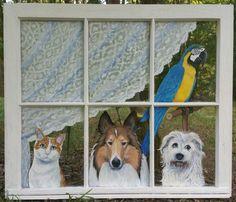 Doggies In the Window by JGravesStudios on Etsy