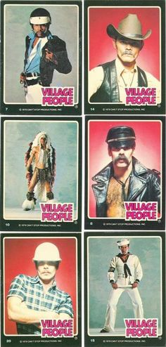 The Village People trading cards