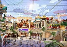 Concept art for the new #indoor theme park Eontime World in Yinchuan City #China designed by #IdeAttack