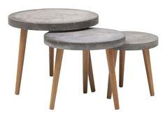 Smart løsning til borde. Kan evt. bruges udendørs. Vil se, om vi selv kan støbe noget lignende i beton.