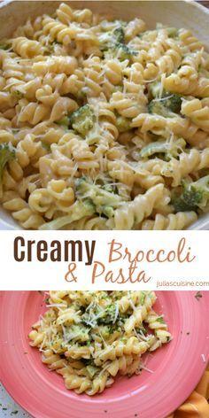Easy Pasta Recipes, Easy Healthy Recipes, Vegetarian Recipes, Cooking Recipes, Healthy Food, Chicken Recipes, Easy Pasta Dinners, Parmesan Pasta, Parmesan Broccoli