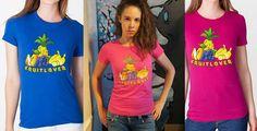 Fruitlover Women Shirt - Fine Jersey Short Sleeve Womens T - Vegan Clothing