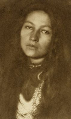 (1901) - Zitkala-Sa was a pioneer in a generation of Indian rights activists who had graduated from mission and government schools, where children were forbidden from speaking their indigenous native languages. Working together, these intellectual activists representing various tribal backgrounds used their formal educations and flawless English to fight U.S. federal Indian policy and demand social justice...Photo credit: Joseph T. Kelley / Text: National Portrait Gallery