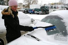 This Car Snow Brush is comfortable and easy to use with its curved handle, comfort foam grip, and unbreakable scraper blade. Thick bristles make brushing snow and ice quick and painless. A must have for any vehicle.