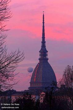 La Mole di rosa Turin Piemonte,
