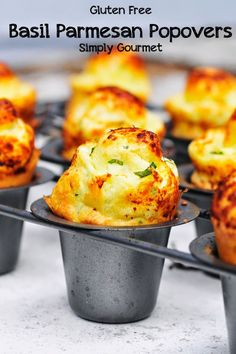 "Gluton free foods - Glutin free foods - Glutten free foods: all spell relief Gluten Free Basil Parmesan Popovers ""I want these tonight!"""