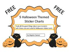 5 Halloween Themed Sticker Charts