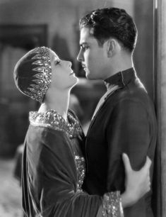 Ramon Novarro & Greta Garbo in Mata Hari.