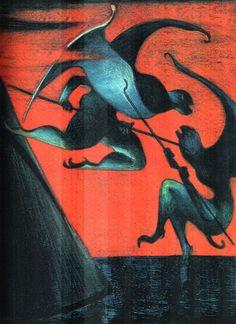 Lorenzo Mattotti illustra L'inferno (ed. Sketchbook Inspiration, Art Sketchbook, Lorenzo Mattotti, Italian Art, Art Graphique, Retro Art, Illustrations And Posters, Art Portfolio, Comic Artist