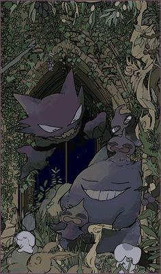 a Pale Marsh Gengar Pokemon, Oc Pokemon, Pokemon Fan Art, Pokemon Images, Pokemon Pictures, Pokemon Fantasma, Ghost Type Pokemon, Digimon, Animes Wallpapers