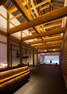 A temple lodging and upscale Japanese inn hybrid, Hakujukan is situated in front of Eiheiji, one of the two head temples of the Soto School of Zen Buddhism. Zazen Meditation, Outdoor Baths, Multipurpose Room, Lodges, Buddhism, The Good Place, Architecture, Temples, Japanese