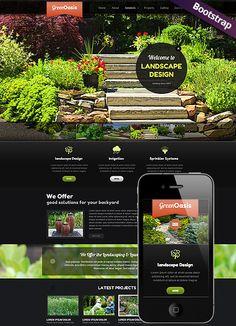 Landscape design - Bootstrap mobile responsive template: http://www.simavera.com/Landscape-Design-Bootstrap-template-ID-300111706.html