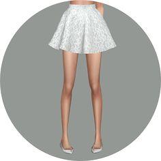 flare skirt_V1 Single color_플레어 스커트 단색 버전_여자 의상 - SIMS4 marigold