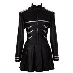 NSOKing Tokyo Ghoul Kaneki Ken Pleather Battle Dress Costume ($60) ❤ liked on Polyvore featuring costumes and dresses