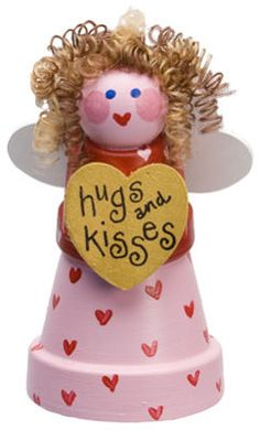 Clay Pots Hugs and Kisses Love Fairy-could make into an angel