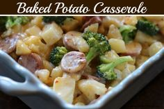 Baked Potato Casserole.  This was ridiculously good:  used meijer chicken sausage with asiago & garlic, some reduce fat white cheddar and whatever was shredded left in the fridge. Microwave potatoes in bowl with plastic wrap over - 5 minutes, add broccoli & nuke 1 minute more for quicker prep.....yum