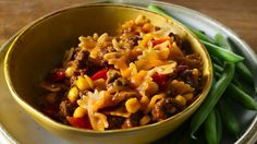 Enjoy this barbecued beef and pasta made with Progresso® broth and corn – a tasty dinner that's ready in 30 minutes.