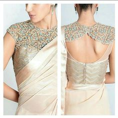 I present this catalogue of 30 latest blouse back neck designs that you all should try. Blouse and neck designs are at their beautiful best right now. Blouse Back Neck Designs, Neck Designs For Suits, Sari Blouse Designs, Fancy Blouse Designs, Blouse Patterns, Blouse Styles, Dress Designs, Casual, Indian Wear