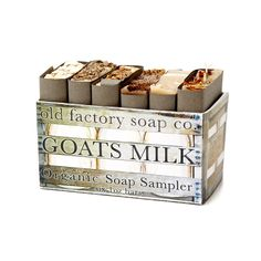 Goats Milk Sampler Set, $15, by Jonathan Savoie & Madeline Novak