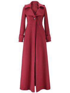 Women Warm Floor Length Wool Coat Manteau Slim Overcoat Long Trench Vintage Coat Outerwear Trench Coat Outwear wine red S Long Winter Coats, Winter Coats Women, Coats For Women, Clothes For Women, Long Coats, Women's Coats, Red Coats, Long Parka, Long Trench Coat