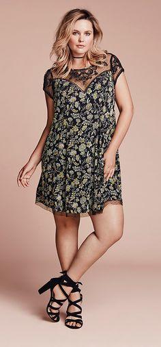 Plus Size A-Line Dress {affiliate link}