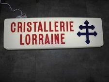 enseigne lumineuse cristallerie Lorraine illuminated sign pub shop lamp
