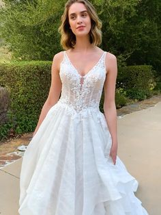 Pictured in Champagne, also available in Ivory or White. Order in any size from 2 to 28 or with your own custom measurements. Find a store near you at KennethWinston.com Rustic Wedding Dresses, Modest Wedding Dresses, Bridal Dresses, Wedding Gowns, V Neck Wedding Dress, Bridal And Formal, The Dress, Ball Gowns, Champagne