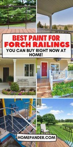 Find out the best paint for porch railings can be a hard task. Especially the preparation time and surface preparation can be a pain to deal with. However, if you follow some guidelines then you'll be able to get away with most of the work. Also, choosing the best paint for deck railings makes work even easier as the right products will produce the best works. #AD #best #paint #buy #metal Home Decor Paintings, Cool Paintings, Best Cabinet Paint, Porch Railings, Buy Metal, Cool Deck, Painting Cabinets, Painting Tips, The Dreamers