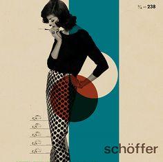 retro cool graphic. schoffer.