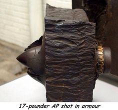 Armor of Tiger hit by British round.