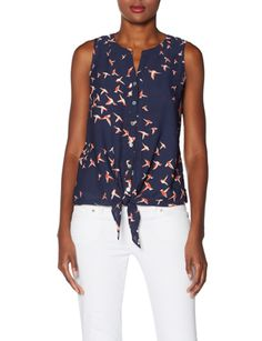Sleeveless Tie-Front Blouse from THELIMITED.com