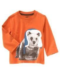 NWT - Gymboree Crazy8 Toddler Boys size 6/12 months Bear tee shirt - FREE SHIPPING