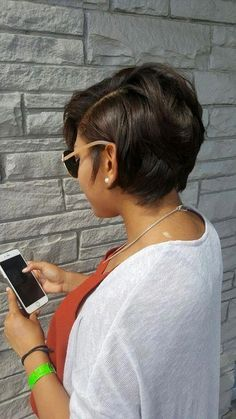lovely Short Hairstyles for Black Women Dont miss As a Black woman hand over your tension concerning whether or not you may be ready to reach yourself at a typical posit. Short Bob Hairstyles, Black Women Hairstyles, Short African American Hairstyles, Haircut Short, Relaxed Hair Hairstyles, Layered Haircuts, Hairstyles Haircuts, Teenage Hairstyles, Curly Haircuts
