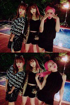 Namjoo, Chorong y Bomi de Apink