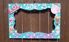 Birthday, Baby Shower, Wedding, Lol Surprise Dolls or any theme you want Party Photo Prop Frame
