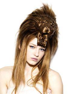 Weird and beautiful animal-inspired hair hats designed by Japanese art director Nagi Noda.