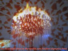 London Olympics 2012. Olympics torches (copper petals) of the caldron