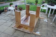 table made from sleepers - Google Search