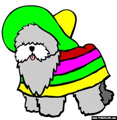 old english sheepdog coloring page free old english sheepdog online coloring