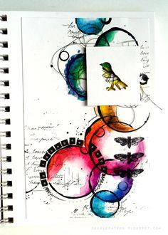 by DeeDee Catron: my rainbow soul {Art Journal Page}