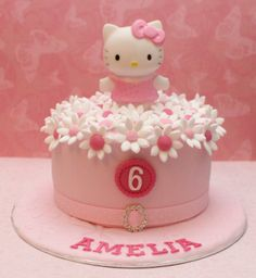 Victorious Cupcakes and like OMG! get some yourself some pawtastic adorable cat apparel! Hello Kitty Torte, Bolo Da Hello Kitty, Hello Kitty Fondant, Hello Kitty Cupcakes, Hello Kitty Birthday Theme, Hello Kitty Themes, Pretty Cakes, Cute Cakes, Yummy Cakes