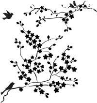 Schönes Vogel-Zweig-Motiv