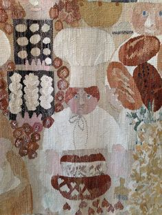 """""""The bakers who bake till the dawn so we can have cake in the morn…"""" American Children, Tapestry Design, Malm, Fabulous Fabrics, Tapestry Weaving, Textile Art, Bakery, Textiles, Cook"""