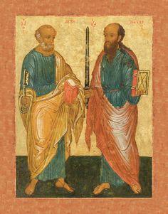 Икона. Апостолы Петр и Павел. 15 век