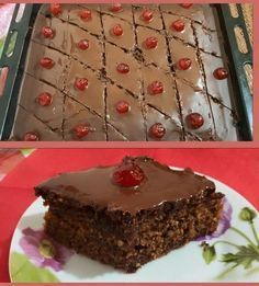Νηστίσιμη Καρυδόπιτα με γλάσσο σοκολάτας #Γλυκά