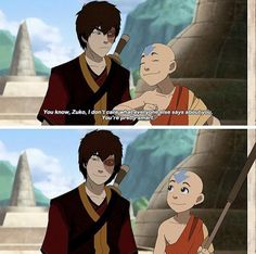 THAT SMILE! The only not biased person to ever complimenthim. His uncle and mother were family and actually loved him, of course they said nice things about him. But he had actively hunted Aang so Aang complimenting him really meant something! Avatar Aang, Avatar Airbender, Suki Avatar, Avatar The Last Airbender Funny, The Last Avatar, Avatar Funny, Team Avatar, Zuko And Katara, Blade Runner